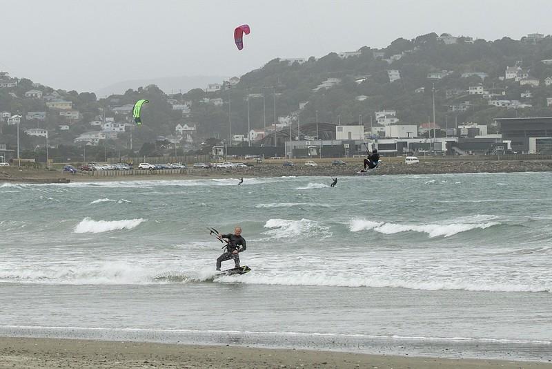 20160325 Kite Boarders at Lyall Bay, Wellington _MG_2317