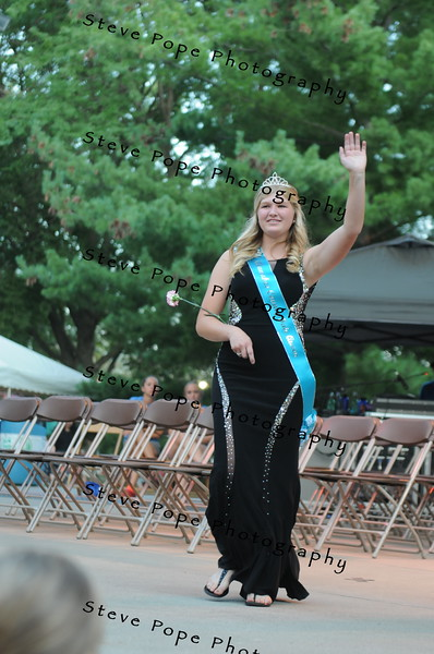 Allamakee County Fair Queen Danielle Stock, 17, of Waukon, participates in the 2017 Iowa State Fair Queen Coronation Ceremony on Aug. 12. (Iowa State Fair/ Steve Pope Photography)