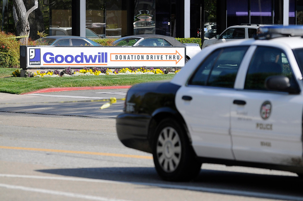 . This Goodwill is the reported location where Nicole Ryan was dropped off. One building the the west, police officers gathered around the Starbucks Coffee located at the intersection of Canoga and Oxnard in Woodland Hills.A 10-year-old girl who was reported missing from her family\'s Northridge home was found safe Monday afternoon in Woodland Hills, and police said it was unclear whether she had been abducted or ran away. After an 11-hour search, Nicole Ryan was found near a strip mall about six miles from her home, Los Angeles police Capt. Kris Pitcher said. Woodland Hills,CA 3/26/2013(John McCoy/Staff Photographer