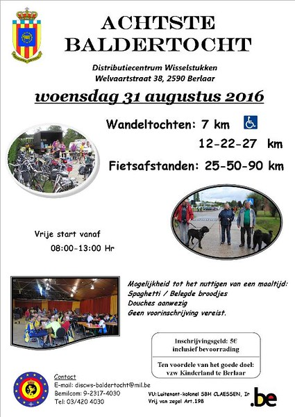 Racefiets toer - Baldertocht 31-08-2016