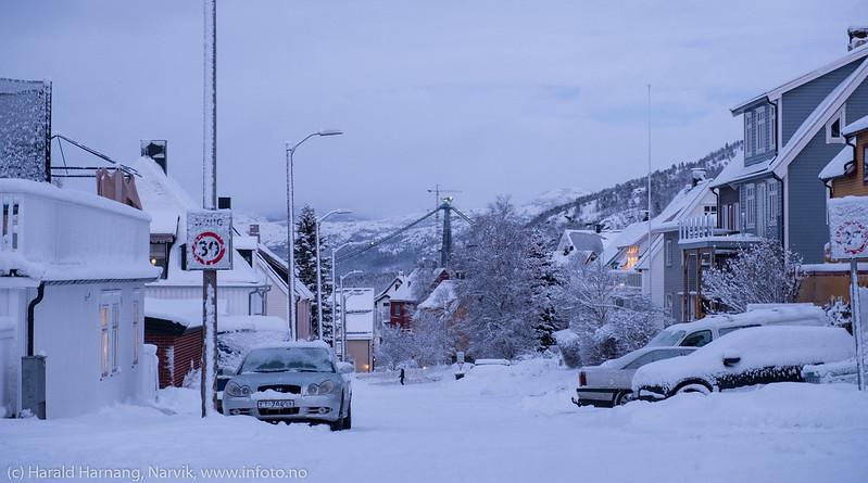 Narvik, 6. desember 2017, etter snefall