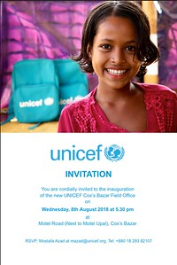 Inauguration of UNICEF Office Cox's Bazar - 08-08-2018-sujanmap