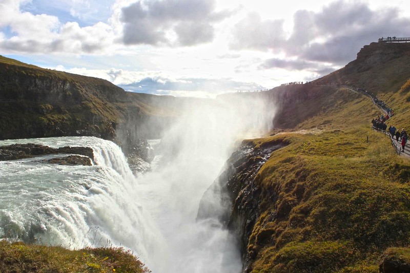 The lower falls at Gullfoss - photo by Ron R.