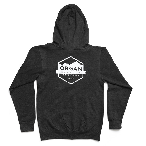 Organ Mountain Outfitters - Outdoor Apparel - Sweater - Classic Midweight Zip Up Hoodie - Black Back.jpg