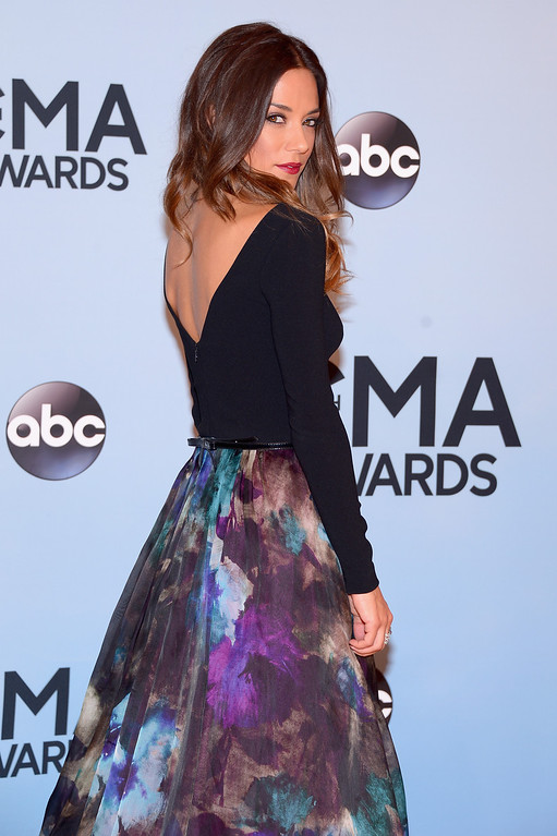 . NASHVILLE, TN - NOVEMBER 06:  Jana Kramer attends the 47th annual CMA Awards at the Bridgestone Arena on November 6, 2013 in Nashville, Tennessee.  (Photo by Michael Loccisano/Getty Images)