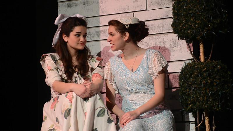 Kaily as Maria and Sara as Liesel