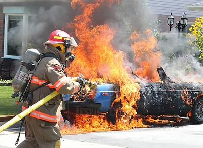 Brampton, ON - July 29, 2010 - Vehicle Fire - 6 Liberation Drive