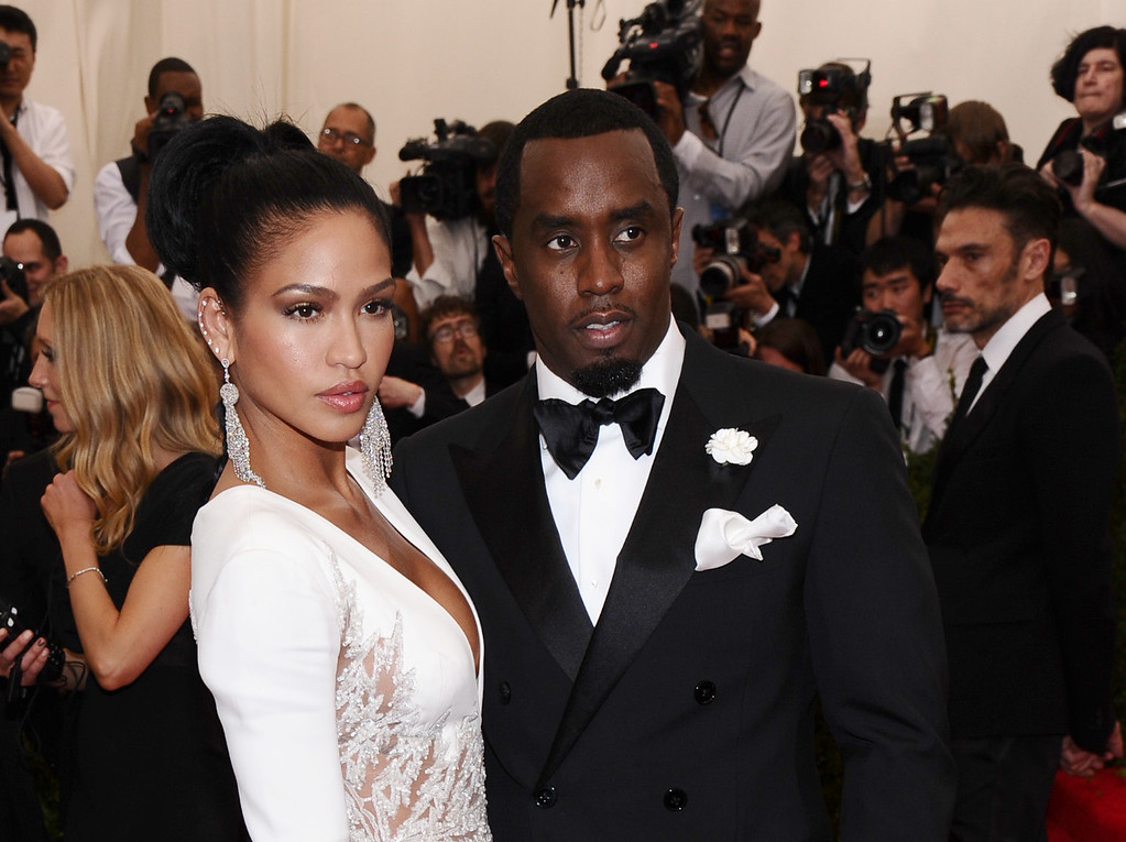 ". Cassie, left, and Sean ""Diddy\"" Combs arrive at The Metropolitan Museum of Art\'s Costume Institute benefit gala celebrating \""China: Through the Looking Glass\"" on Monday, May 4, 2015, in New York. (Photo by Charles Sykes/Invision/AP)"