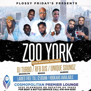 FLOSSY FRIDAYS PRESENTS ZOO YORK