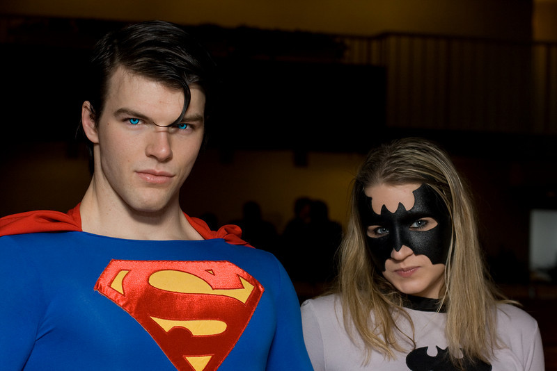 Superman and Batwoman.