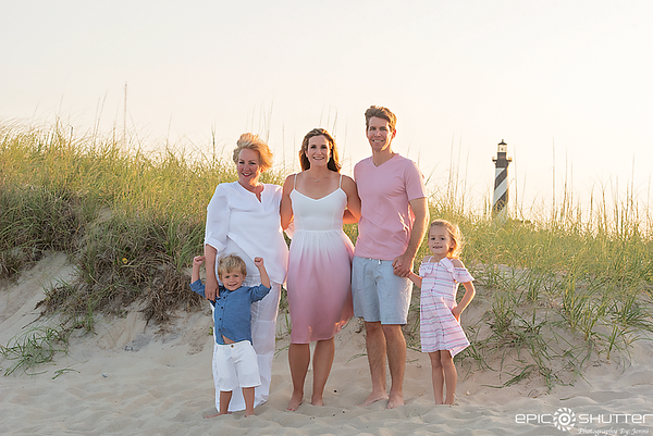 Buxton Family Vacation, Buxton, North Carolina, Outer Banks Photographers, OBX Photographers, Family Portraits, Family Photos, Cape Hatteras Photographers, Cape Hatteras National Seashore, Cape Hatteras Lighthouse Family Photos, Epic Shutter Photography