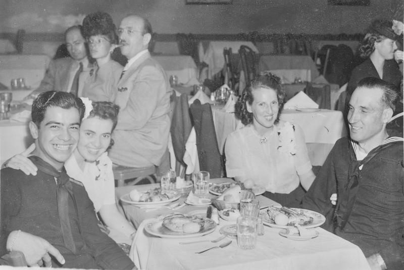 Dinner at Florentine Gardens. Sept. 8, 1944