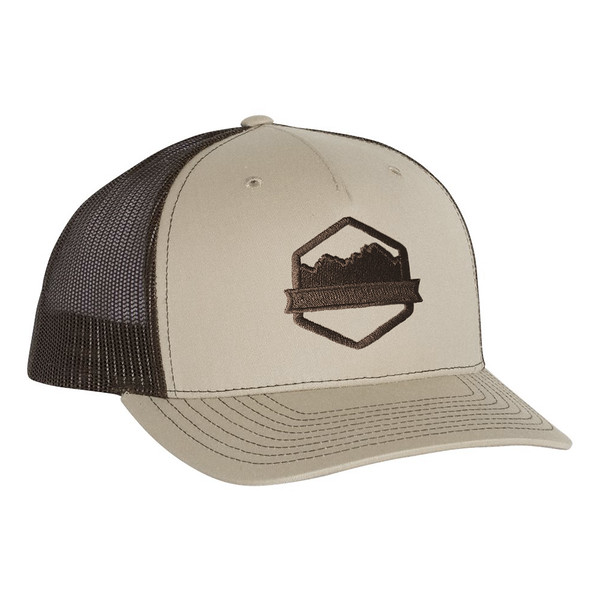 Organ Mountain Outfitters - Outdoor Apparel - Hat - Logo Trucker Cap - Khaki Coffee.jpg
