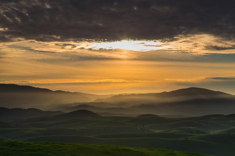 Sun sets over San Benito County.