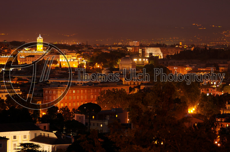 The city as viewed from the Aventine. Rome, Italy.
