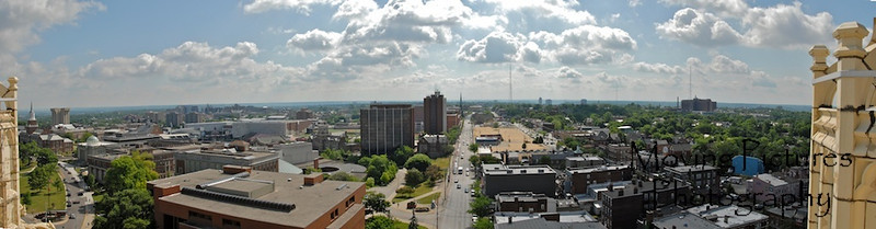 View from tower of Hughes High School - June 4, 2007 - looking down Calhoun Street