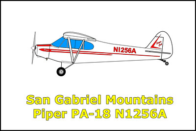 San Gabriel Mountains Piper PA-18 N1256A 6/15/13