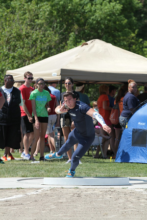 D1 Boys' Shot Put - 2014 MHSAA T&F Finals