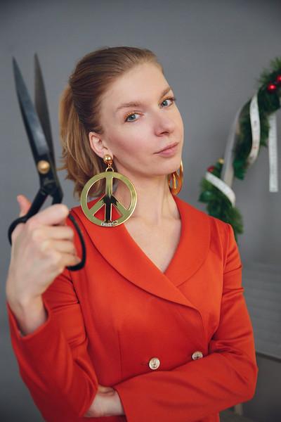 Sewing school owner Alina Bezborodova. Saint Petersburg, 2018.