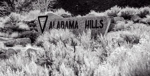 Alabama Hills - b/w