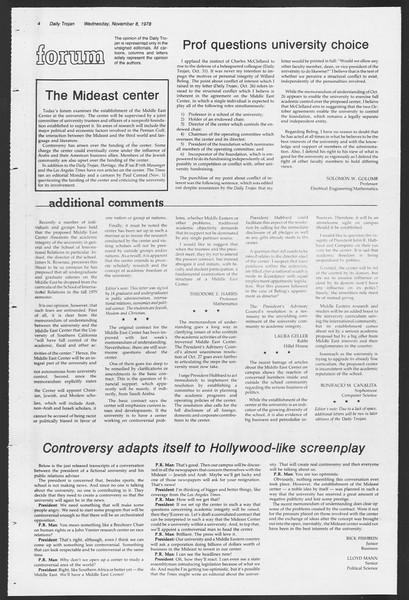 Daily Trojan, Vol. 75, No. 34, November 08, 1978