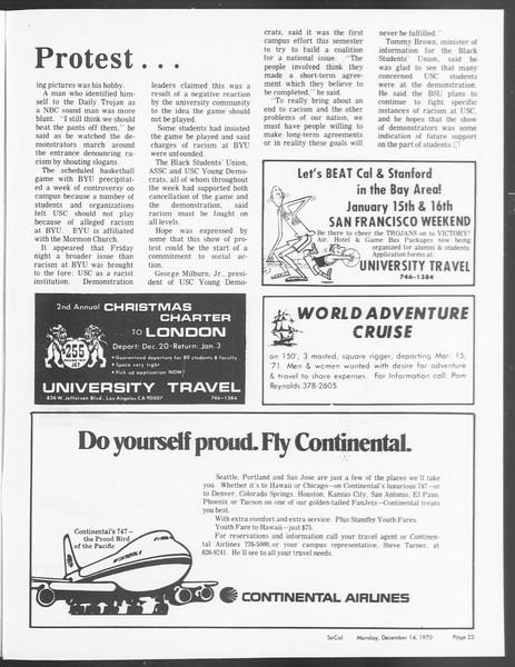 SoCal, Vol. 62, No. 53, December 14, 1970