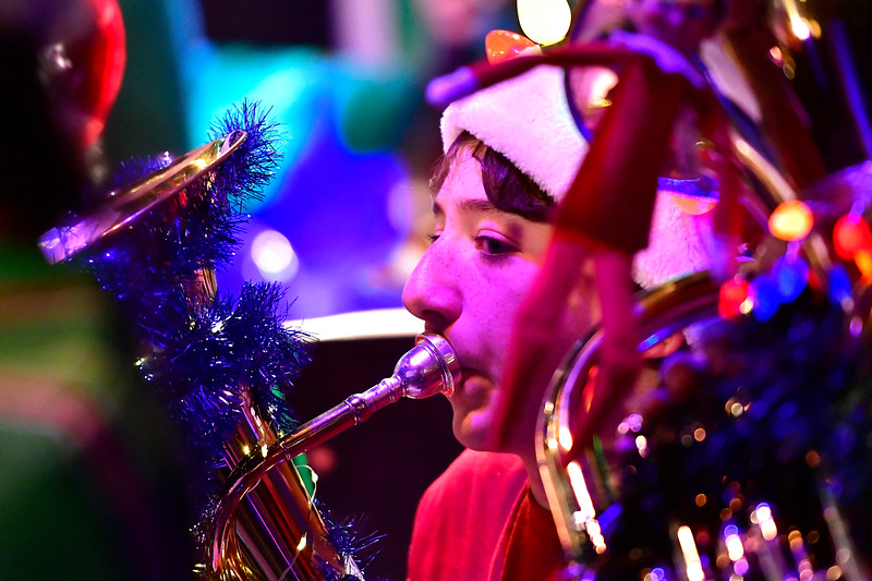 12/15/2017 Mike Orazzi | Staff Adriano Rasmussen during the 4th Annual Tuba Christmas at Trinity-On-Main in downtown New Britain Saturday.