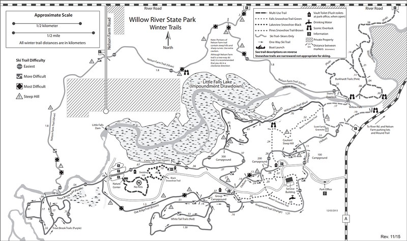 Willow River State Park (Winter Trail Map)