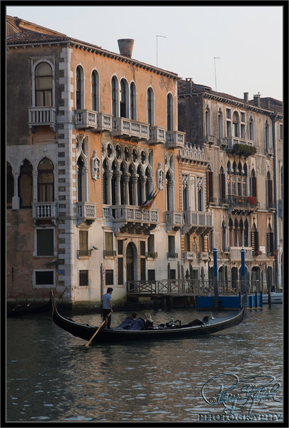 Gondola in The Grand Canal of Venice, Italy