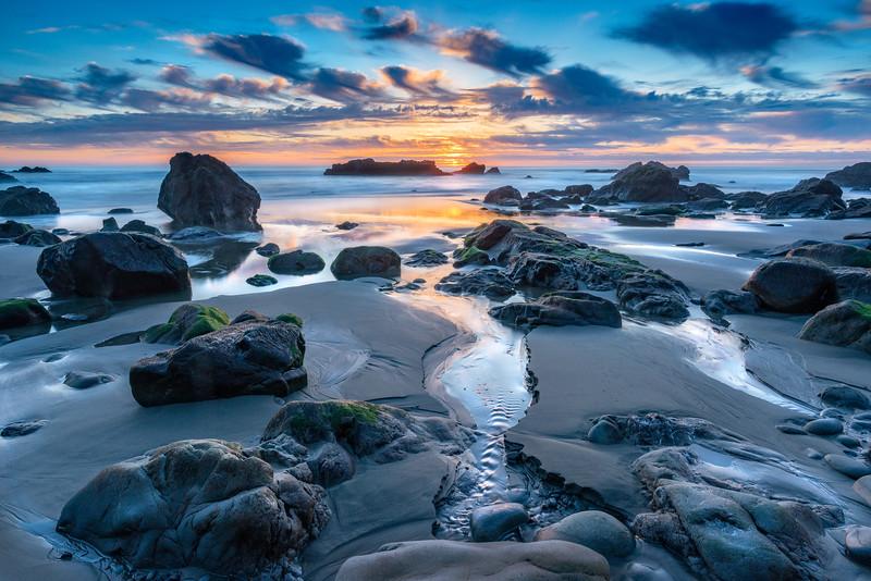 Olson Beach Sunset, Sea Ranch, California
