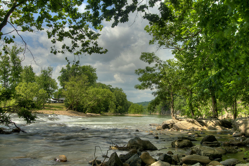 A short trail takes visitors to a beautiful spot along the Nolichucky River at Davy Crockett Birthplace State Park in Limestone, TN on Friday, June 6, 2014. Copyright 2014 Jason Barnette