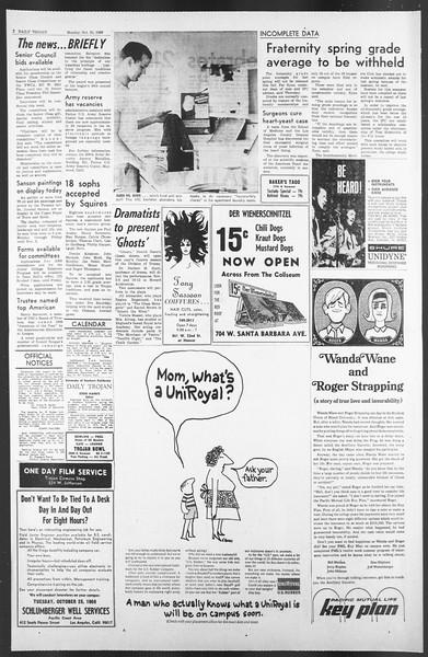 Daily Trojan, Vol. 58, No. 25, October 24, 1966