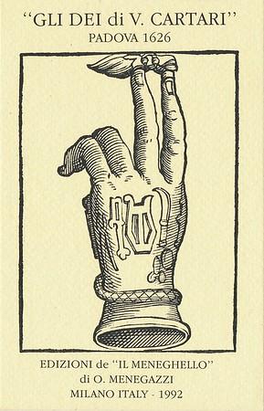 GLI DEI di V.  CATARI Padova 1626