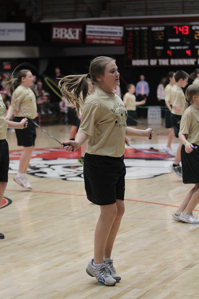 Balls Creek PE Club from Newton, NC performed a jump rope routine for the halftime show