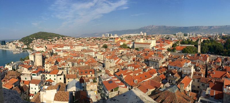 View of Split from the Bell Tower - Diocletian's Palace