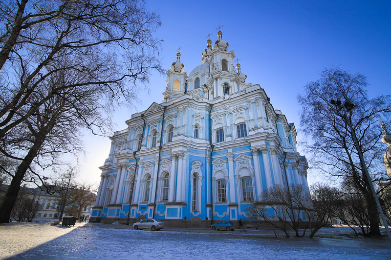 Smolny Cathedral, Saint Petersburg, Russia
