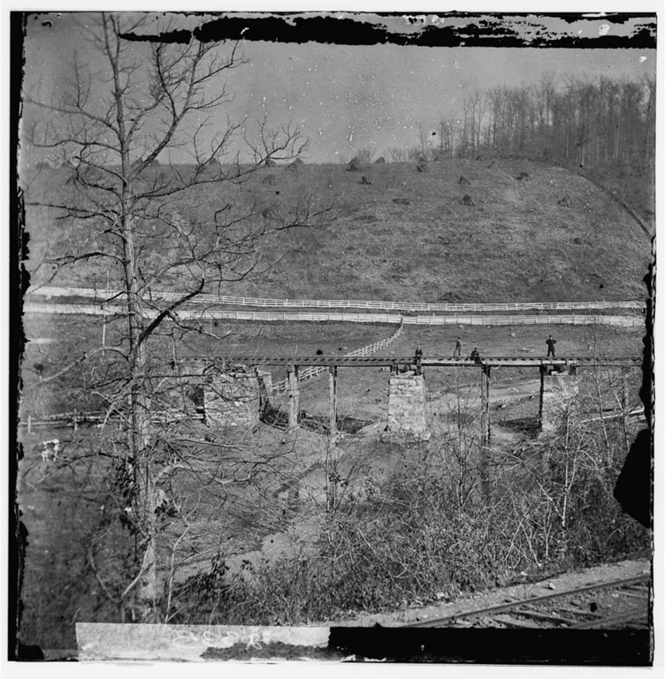 . Hanover Junction, Pennsylvania. Bridge at Hanover Junction burned by Confederates before the battle of Gettysburg  - Library of Congress Prints and Photographs Division Washington, D.C.