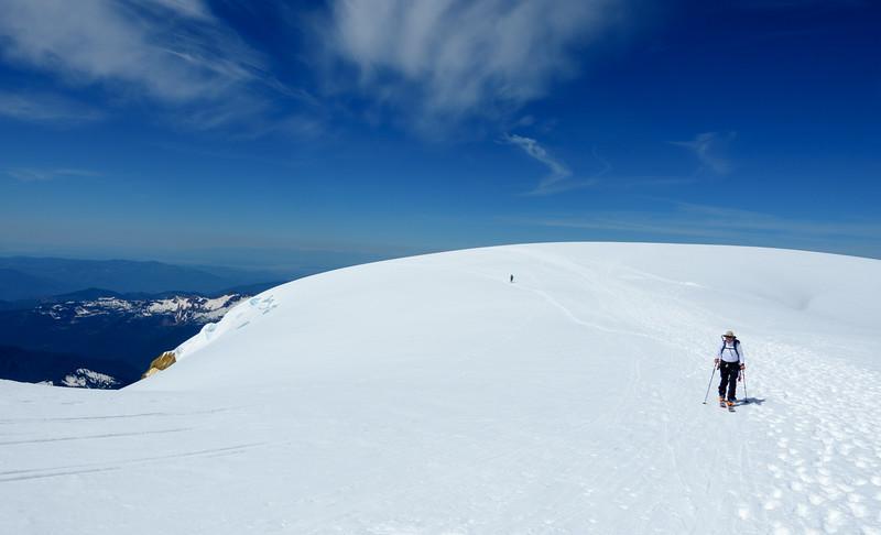 Roman & Radka on the summit plateau