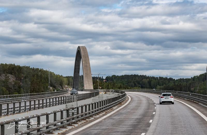 Svinesund Bridge, crossing to Norway