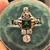 1.01ctw Victorian Emerald (syn) and Diamond Dinner Ring 24