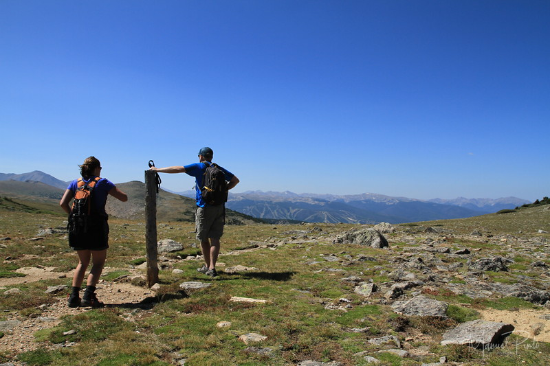 On top of the Continental Divide looking west
