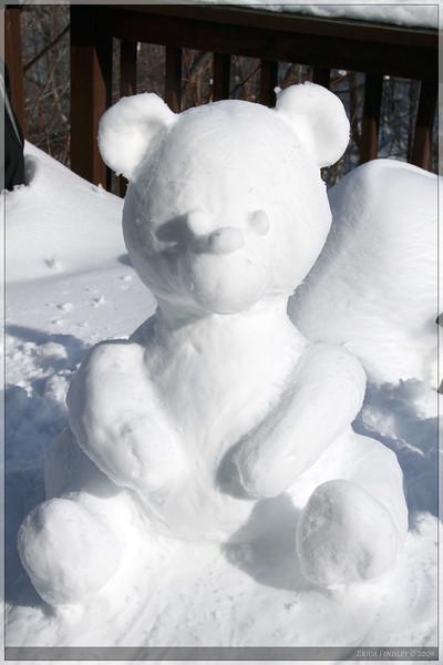 My 2nd snow sculpture.  Too much fun!