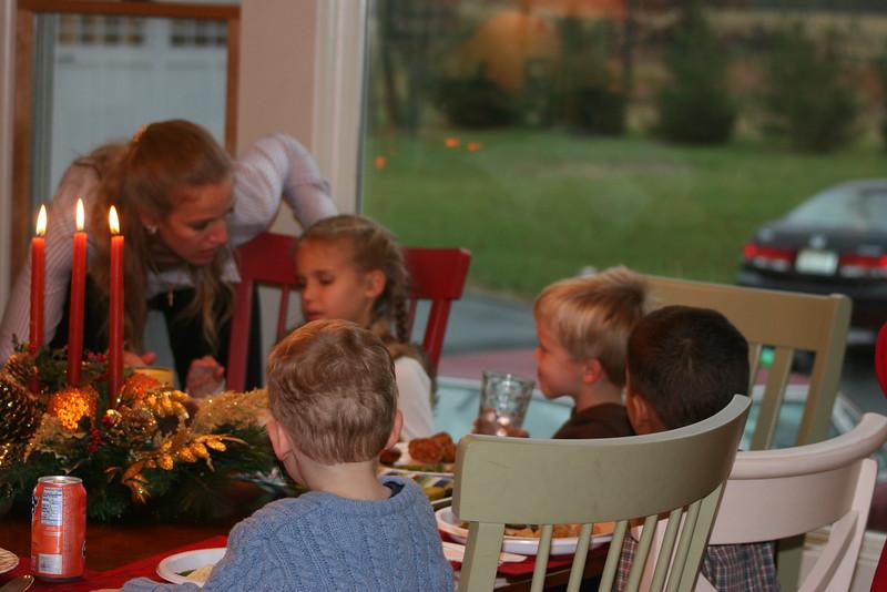 The children's table - Thanksgiving '06