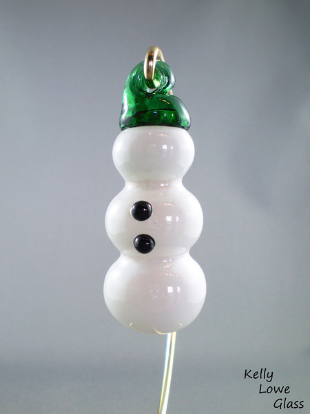 Glass Snowman Decoration: