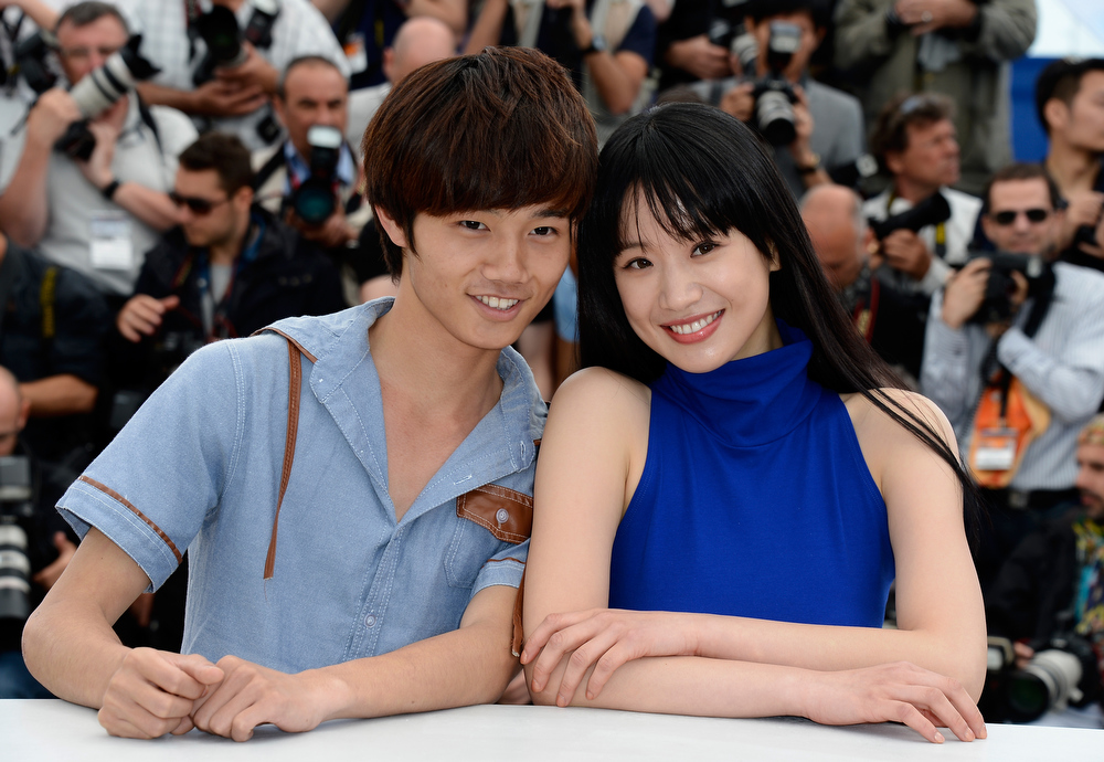 . Actor Lanshan Luo and actress Meng Li attend \'Tian Zhu Ding\' (A Touch Of Sin) photocall during the 66th Annual Cannes Film Festival at the Palais des Festivals on May 17, 2013 in Cannes, France.  (Photo by Pascal Le Segretain/Getty Images)