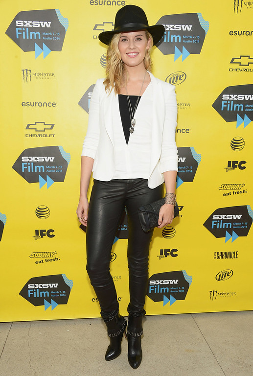 """. Actess Maggie Grace attends the \""""We\'ll Never Have Paris\"""" premiere during the 2014 SXSW Music, Film + Interactive Festival at the Topfer Theatre at ZACH on March 10, 2014 in Austin, Texas.  (Photo by Michael Loccisano/Getty Images for SXSW)"""