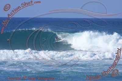 2010_12_08 (3-4pm) - Surfing Laniakea, NORTH SHORE