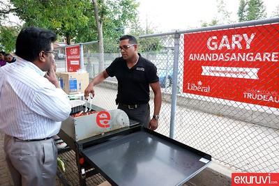 Selva Vettyvel & Suren Nathan Jointly hosting BBQ  -  Gary Anandasangaree  campaign Office - Sep 10, 2015