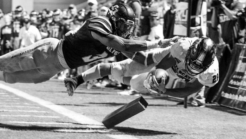 Cal Poly football hosted Weber State at Alex G. Spanos Stadium for a non-conference game. 9/8/18  Photo by Owen Main