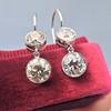 3.07ctw Double Old European Cut Dangle Earrings 5
